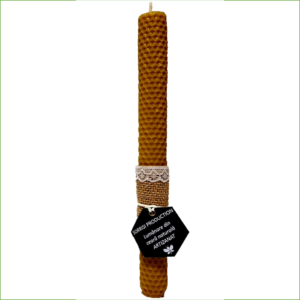 Lumânare ceară naturală de albine artizanat 26cm înălţime 3 cm diametru