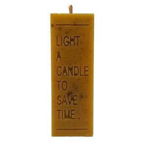"""Lumanare ceara naturala de albine artizanat """"Light a candle"""", 8.5 cm"""