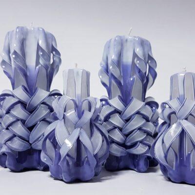 Set lumânări sculptate manual, parfumate, 4 bucăţi MOV